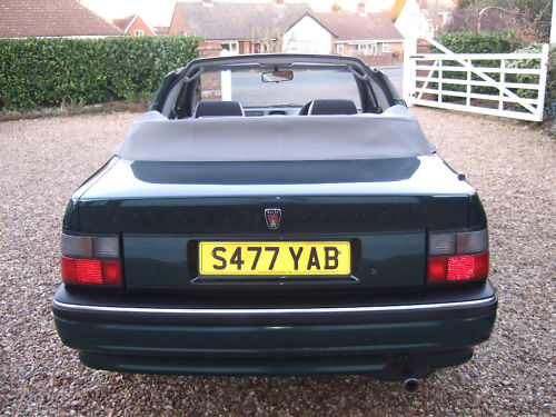 1999 s rover 216 cabriolet back