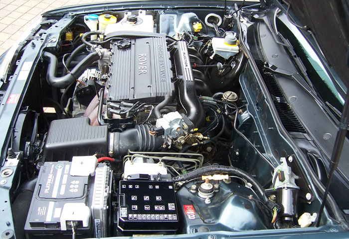 1998 rover 820 si auto blue engine bay