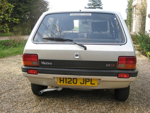 1991 Rover Metro 1.3 GS Back