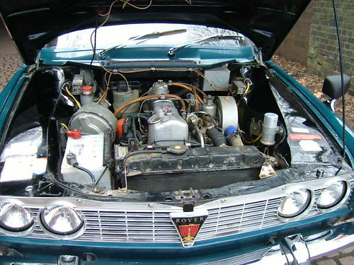 1967 rover p6 2000 sc engine bay