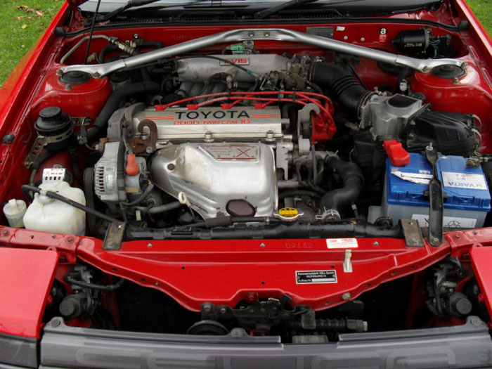1987 toyota celica convertible engine bay