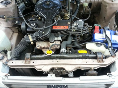 1989 Toyota Corolla GL Engine Bay