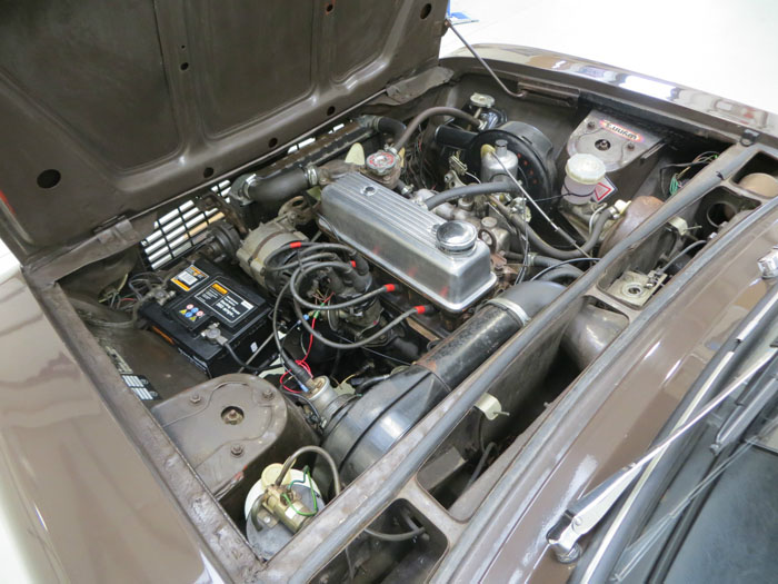 1972 Triumph 1500 Engine Bay