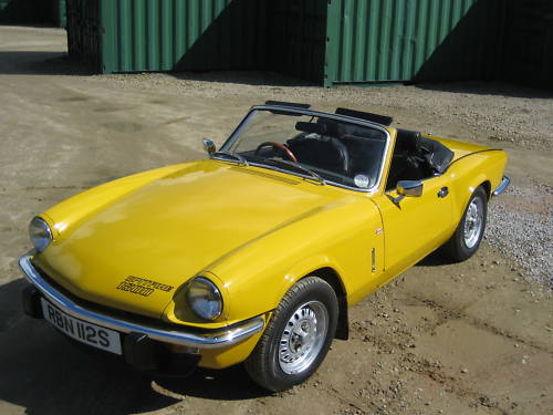 1977 triumph spitfire 1500 yellow 2