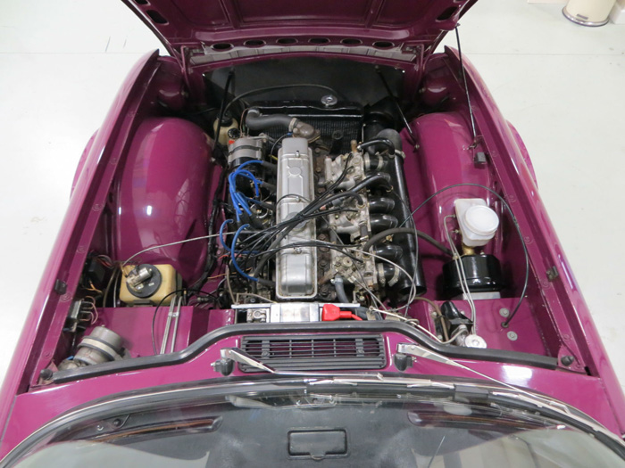 1973 Triumph TR6 PI Engine Bay