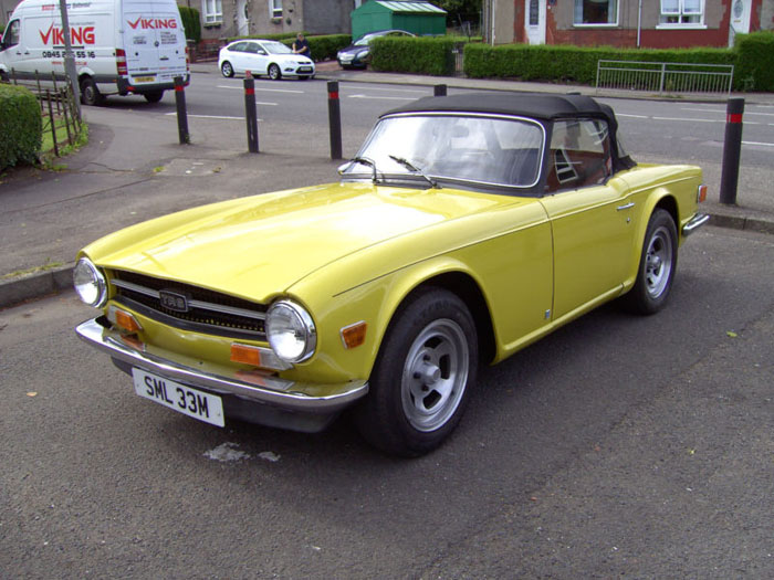 1973 triumph tr6 yellow fuel injection manual overdrive 1