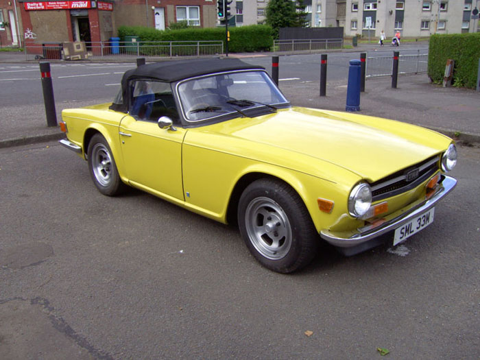 1973 triumph tr6 yellow fuel injection manual overdrive 2