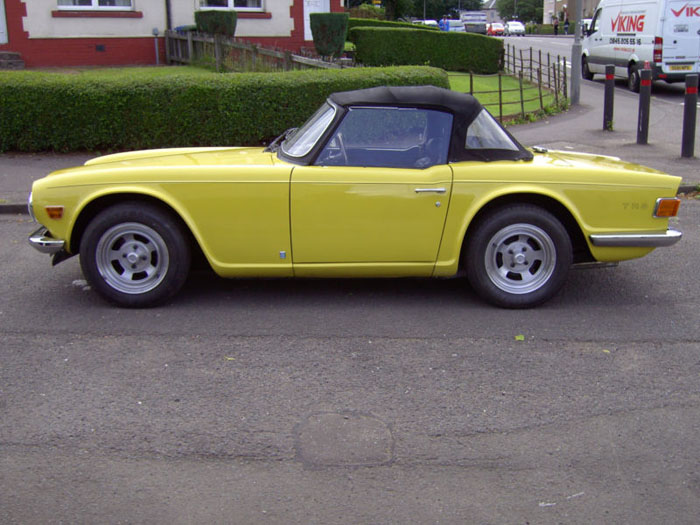1973 triumph tr6 yellow fuel injection manual overdrive 4