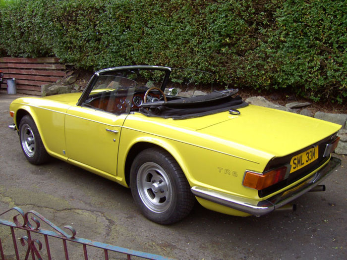 1973 triumph tr6 yellow fuel injection manual overdrive 5