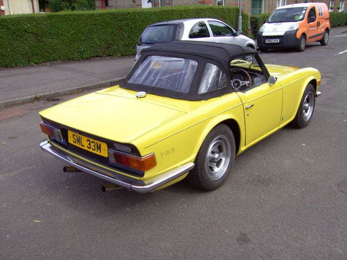 1973 triumph tr6 yellow fuel injection manual overdrive 7