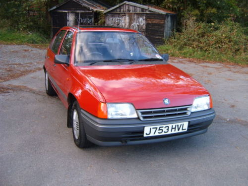 1991 vauxhall astra l red 1