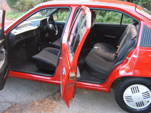 1991 vauxhall astra l red interior