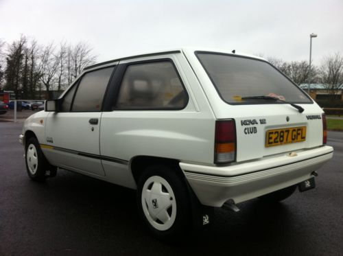 1987 vauxhall nova club white 4