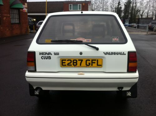 1987 vauxhall nova club white 5