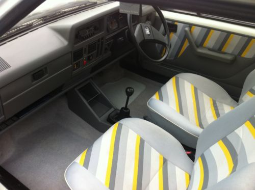 1987 vauxhall nova club white interior 1