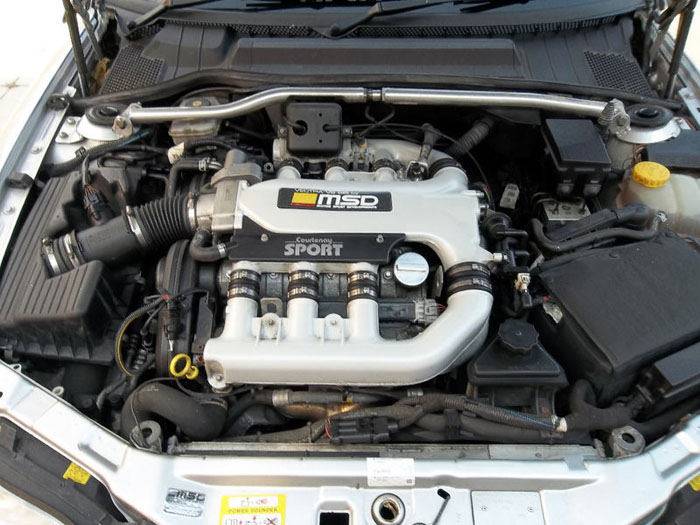2001 vauxhall vectra gsi v6 silver engine bay