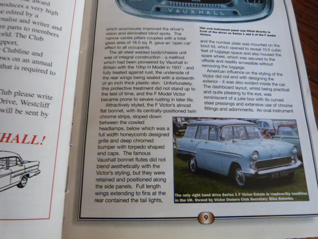 1958 Vauxhall Victor F Type Estate Magazine Article