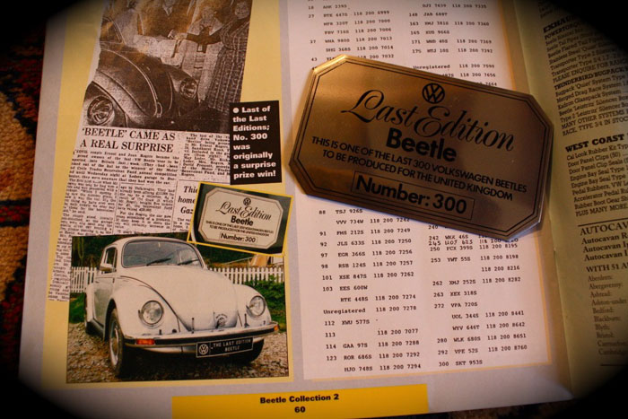 1978 vw beetle no.300 of 300 magazine feature 1