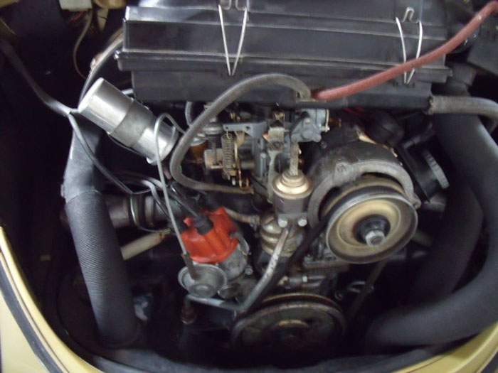 1974 classic volkswagen vw sun bug beetle limited edition engine bay