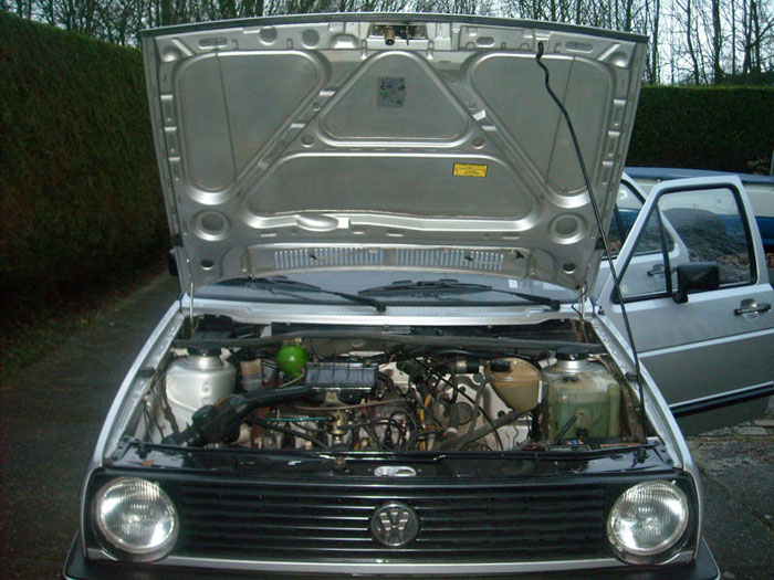 1987 volkswagen golf cl engine bay