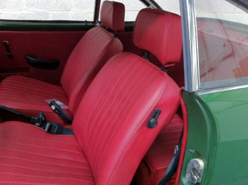 1969 Volkswagen Karmann Ghia Interior Seats