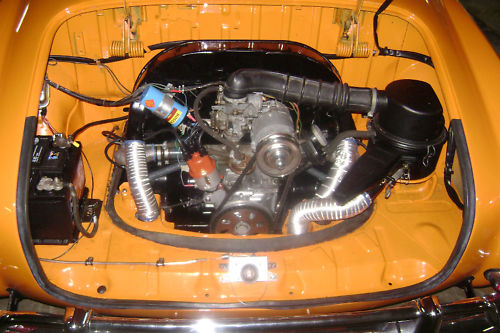 1971 volkswagen karmann ghia engine bay