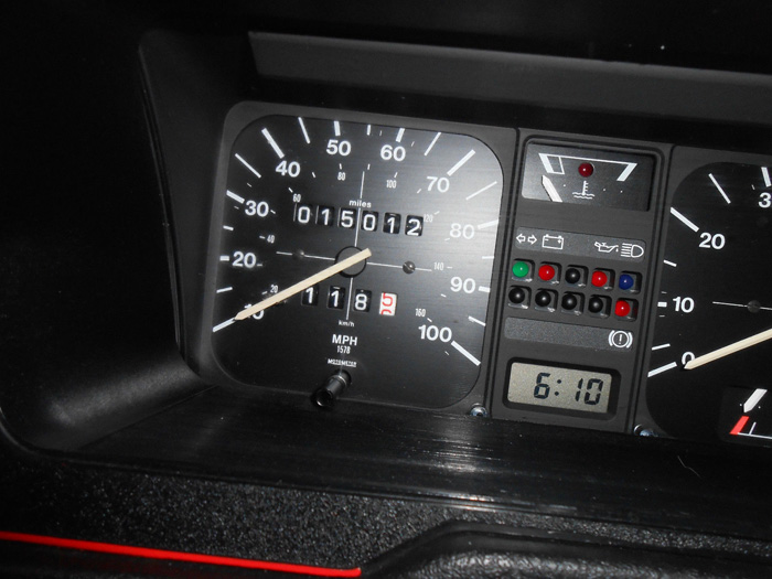 1985 Volkswagen Polo 1.3 S Coupe Speedometer