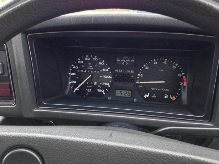 1982 Volkswagen Scirocco 1.6 GL Dashboard Gauges