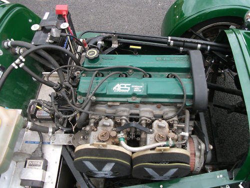 1999 westfield seiw 1800 16v zetec british racing green engine bay