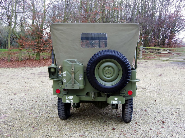 genuine world war ii 1944 willys jeep back