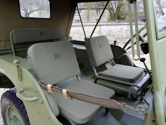 genuine world war ii 1944 willys jeep interior 2